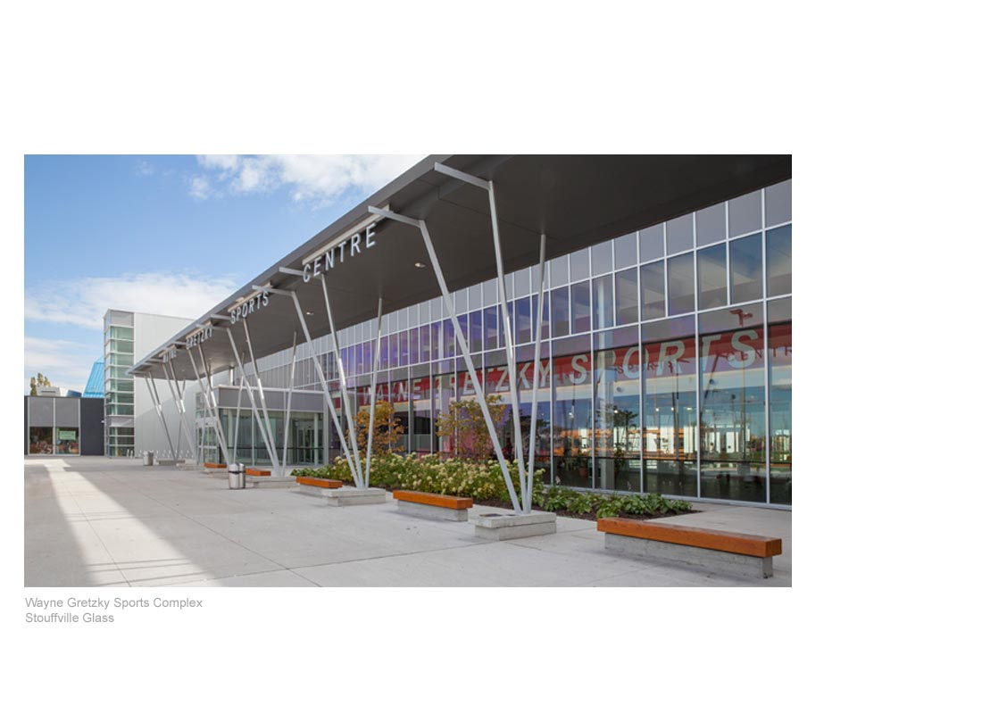 Wayne Gretzky Sports Complex, Stouffville Glass